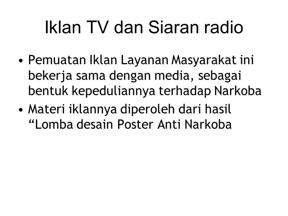 Iklan TV dan Siaran radio