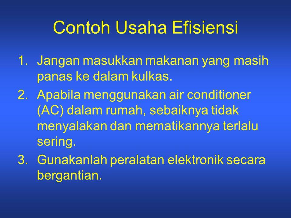 Contoh Usaha Efisiensi