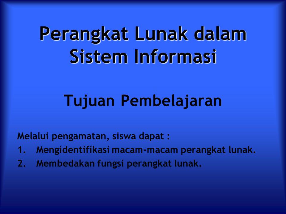 Perangkat Lunak dalam Sistem Informasi