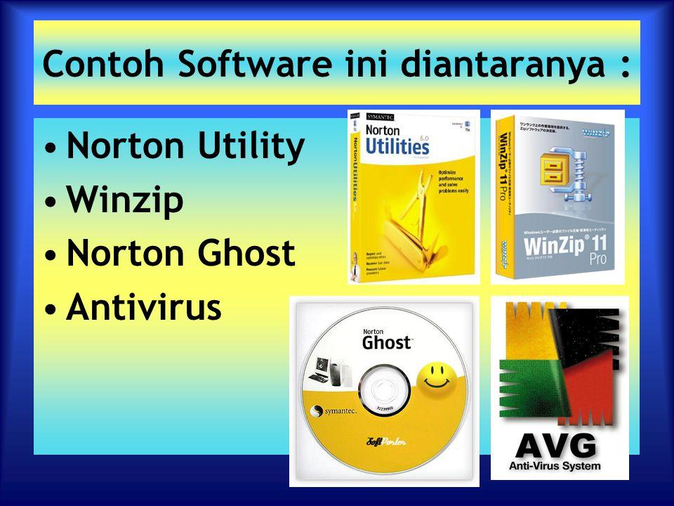 Contoh Software ini diantaranya :
