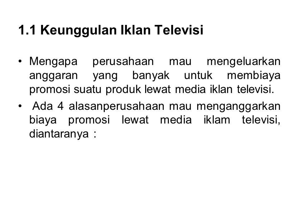 1.1 Keunggulan Iklan Televisi