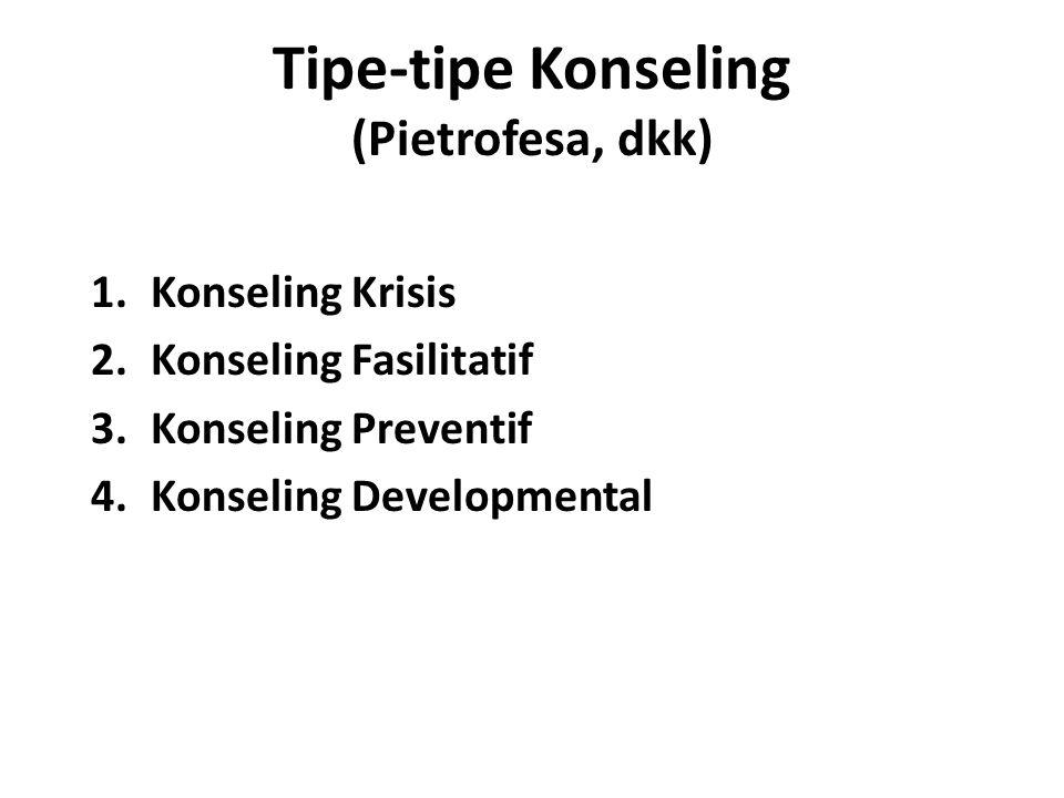 Tipe-tipe Konseling (Pietrofesa, dkk)