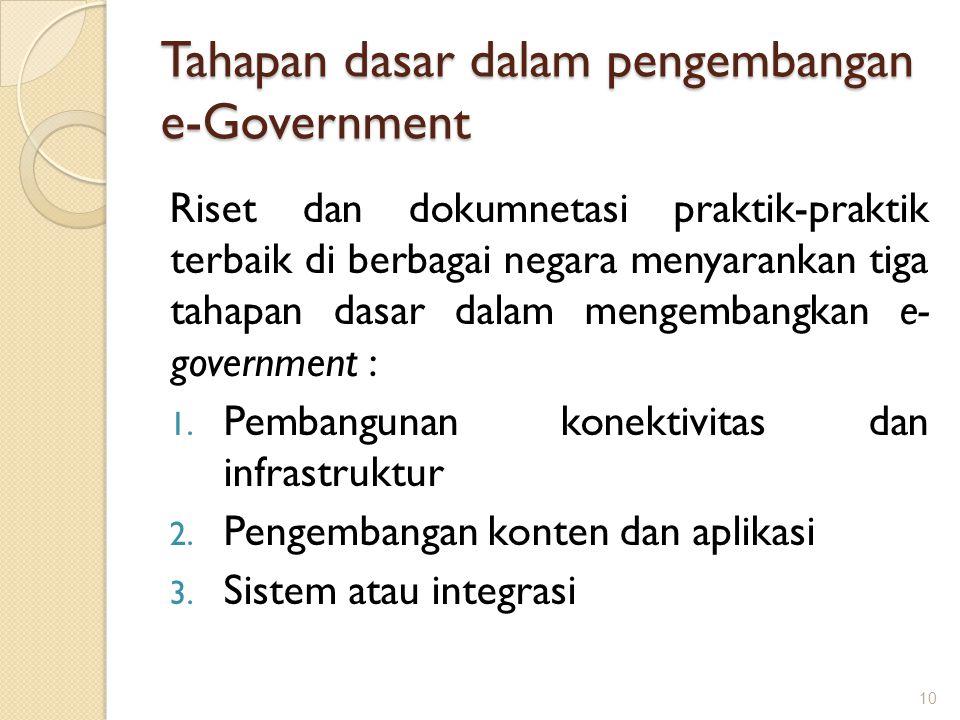 Tahapan dasar dalam pengembangan e-Government