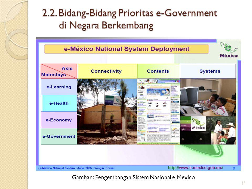 2.2. Bidang-Bidang Prioritas e-Government di Negara Berkembang