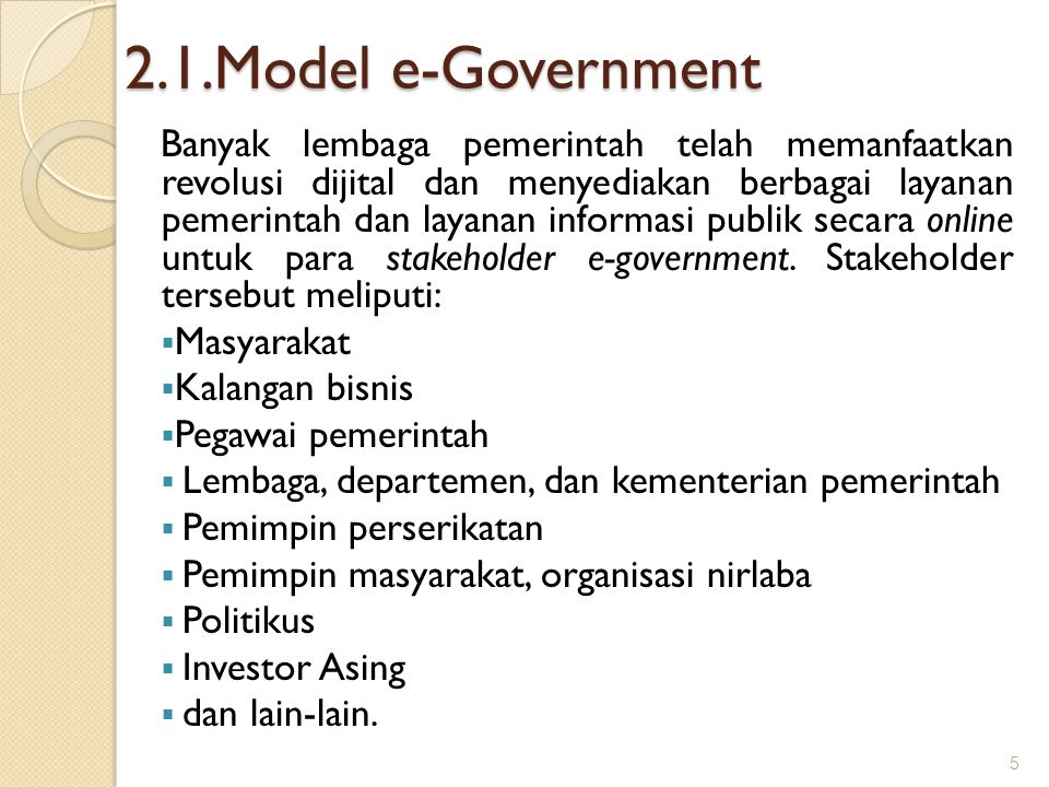 2.1.Model e-Government
