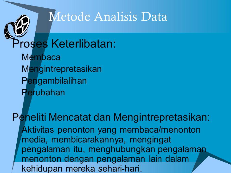 Metode Analisis Data Proses Keterlibatan: