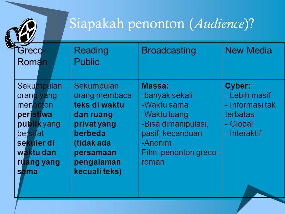 Siapakah penonton (Audience)