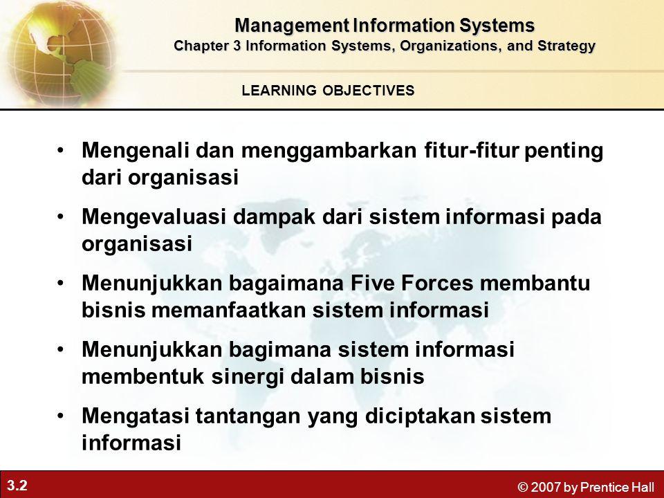 Mengenali dan menggambarkan fitur-fitur penting dari organisasi