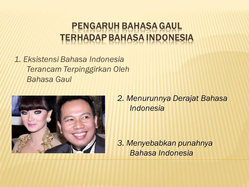 Pengaruh Bahasa Gaul terhadap Bahasa Indonesia