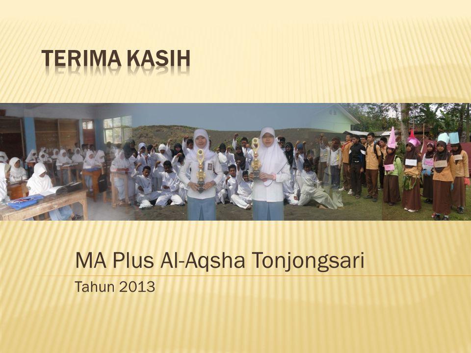 MA Plus Al-Aqsha Tonjongsari Tahun 2013