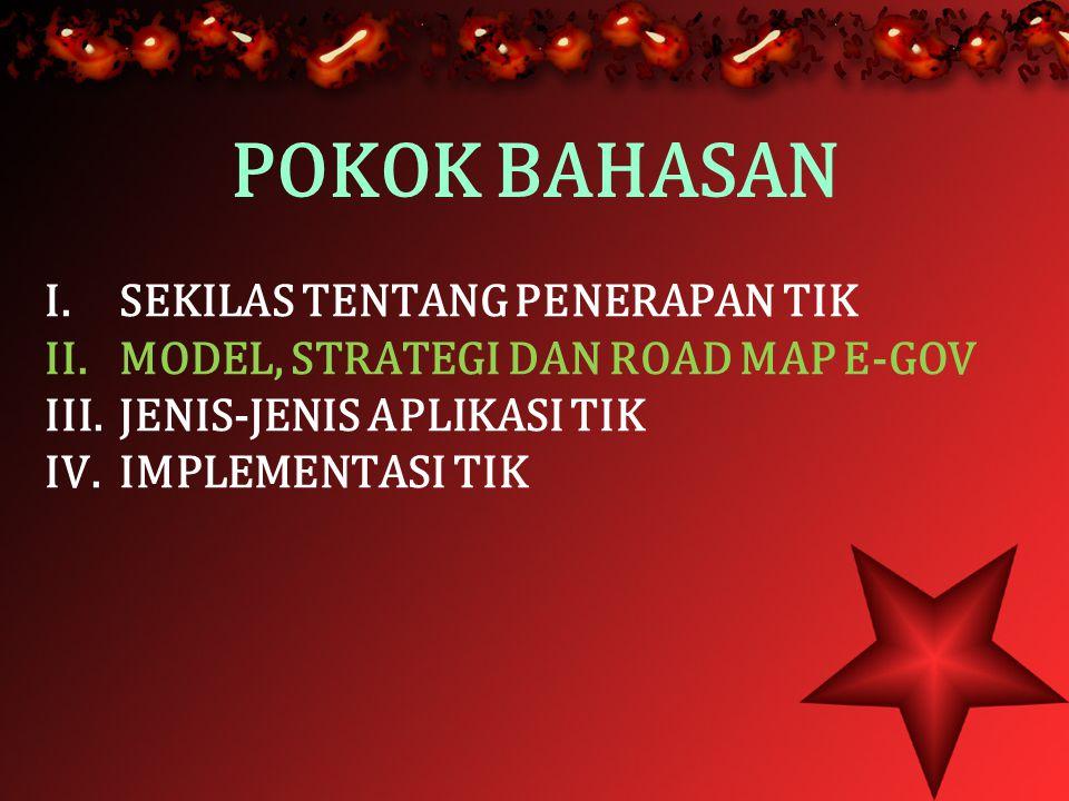 POKOK BAHASAN I. SEKILAS TENTANG PENERAPAN TIK II.
