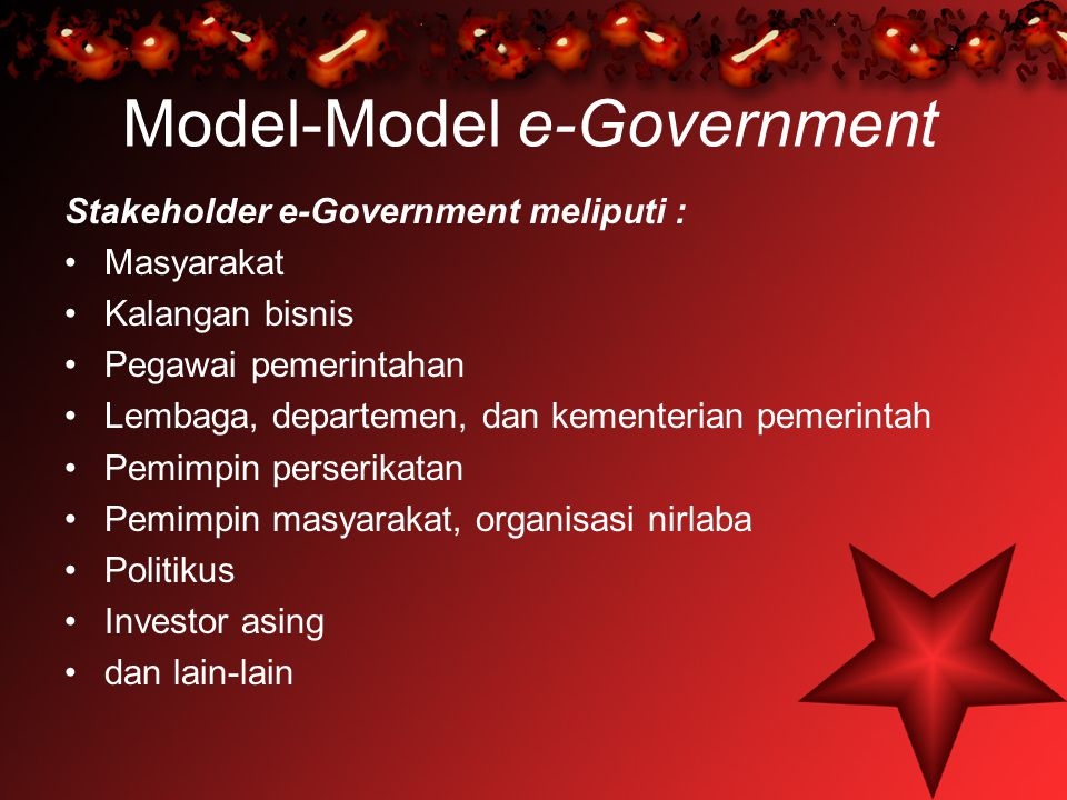 Model-Model e-Government