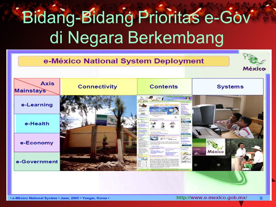 Bidang-Bidang Prioritas e-Gov di Negara Berkembang