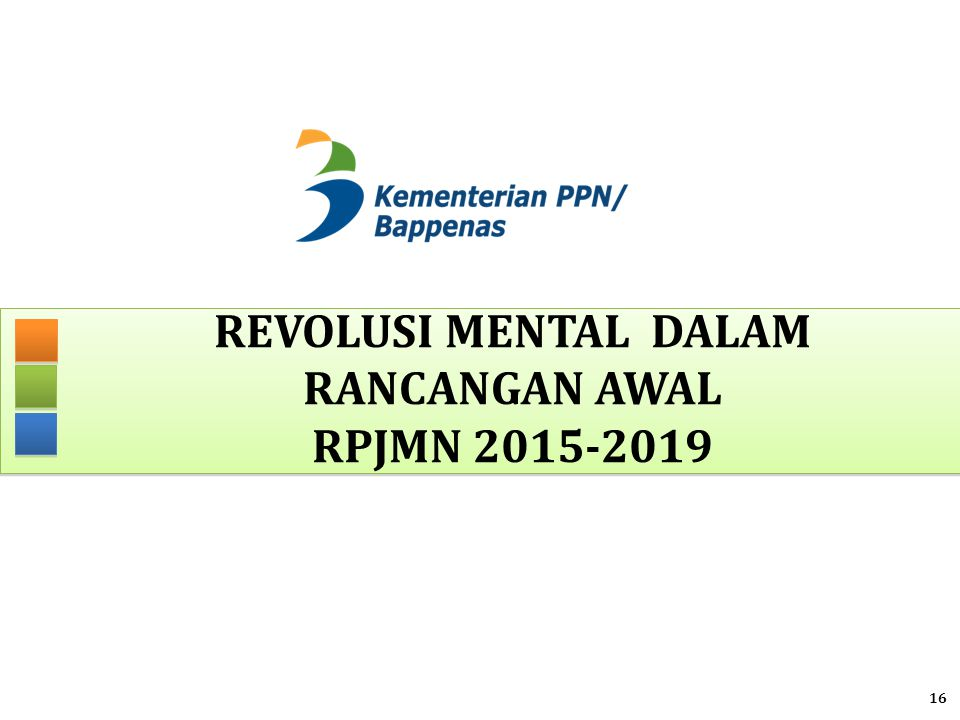 REVOLUSI MENTAL dalam rancangan awal rpjmn 2015-2019