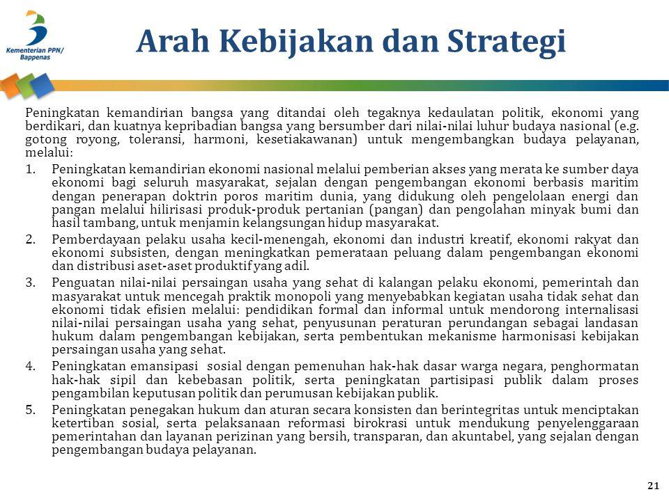 Arah Kebijakan dan Strategi