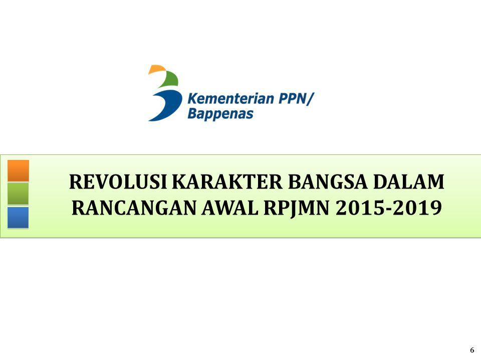 REVOLUSI KARAKTER BANGSA DALAM Rancangan awal RPJMN 2015-2019