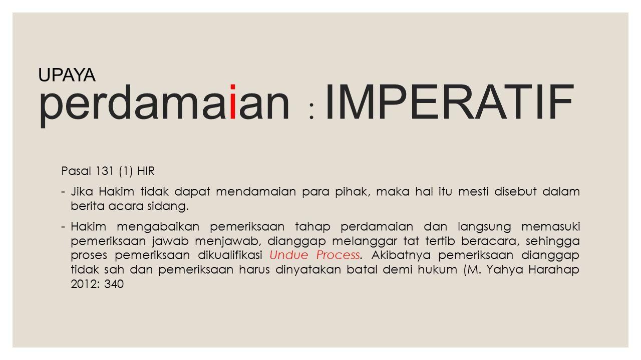 perdamaian : IMPERATIF