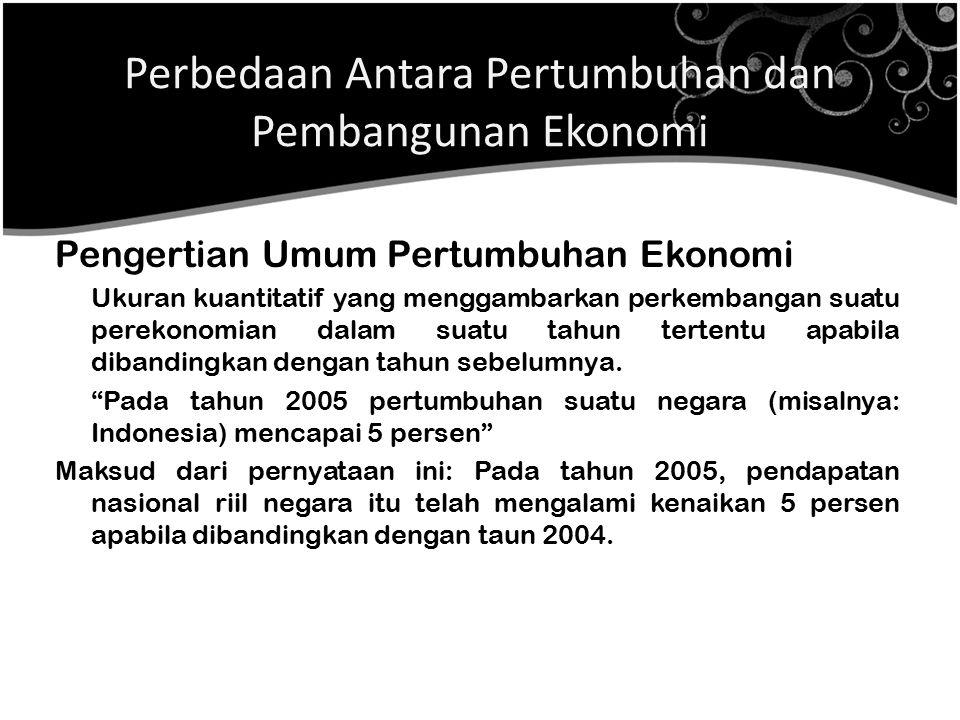 Perbedaan Antara Pertumbuhan dan Pembangunan Ekonomi
