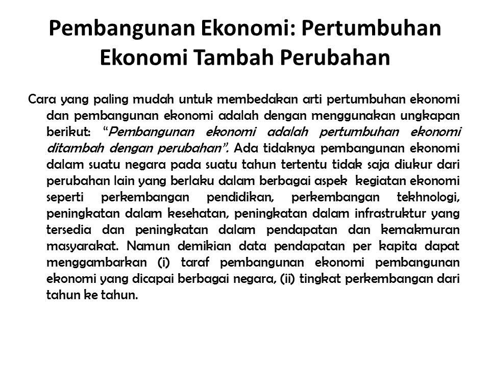 Pembangunan Ekonomi: Pertumbuhan Ekonomi Tambah Perubahan