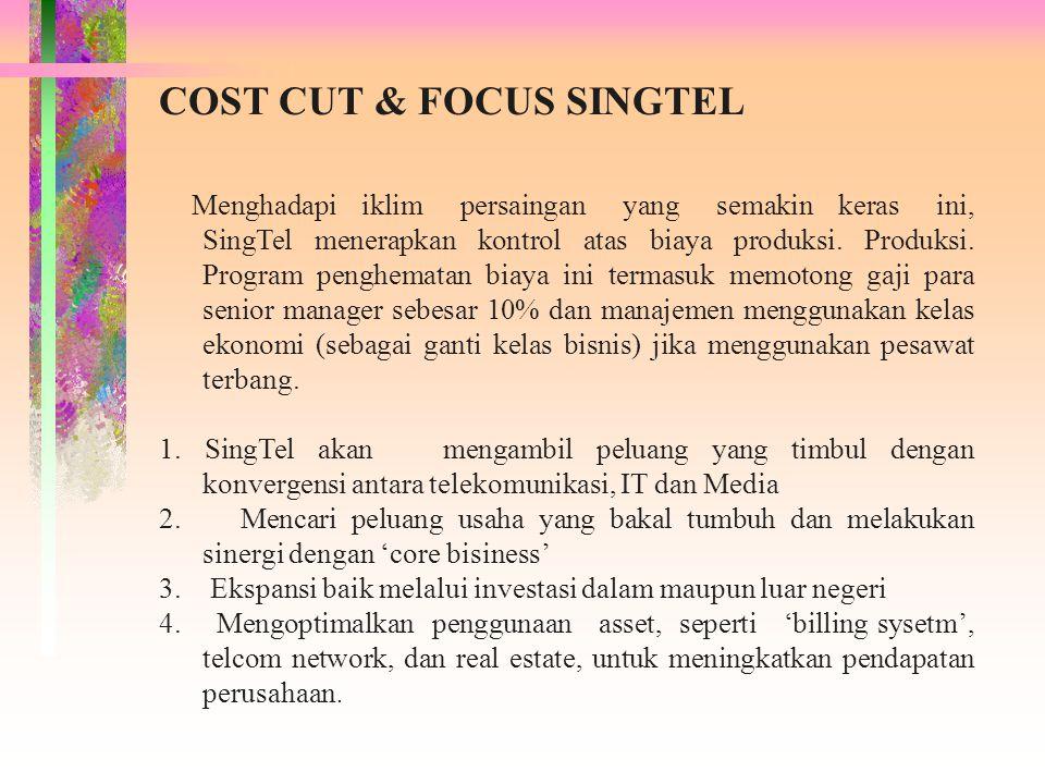 COST CUT & FOCUS SINGTEL