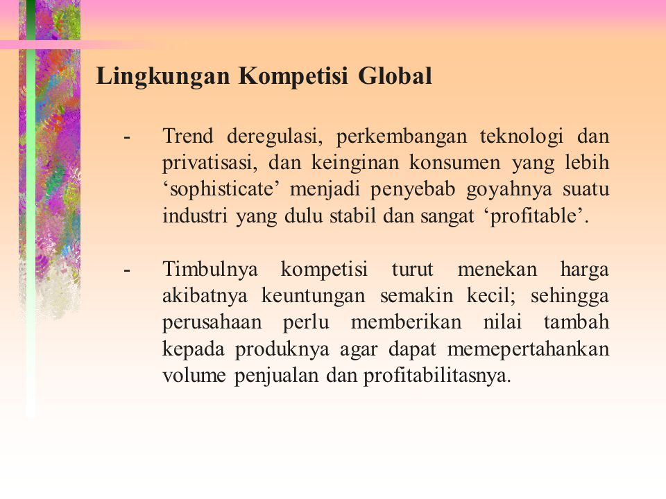 Lingkungan Kompetisi Global