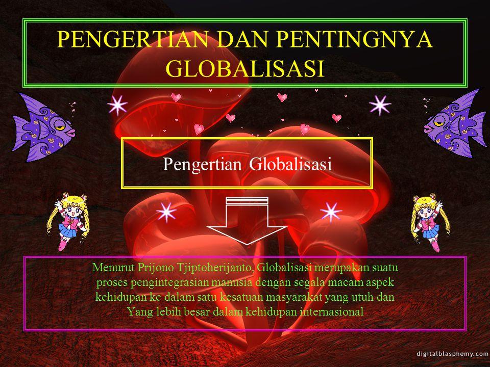 PENGERTIAN DAN PENTINGNYA GLOBALISASI