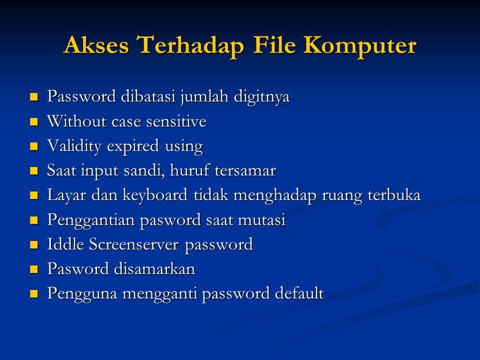 Akses Terhadap File Komputer