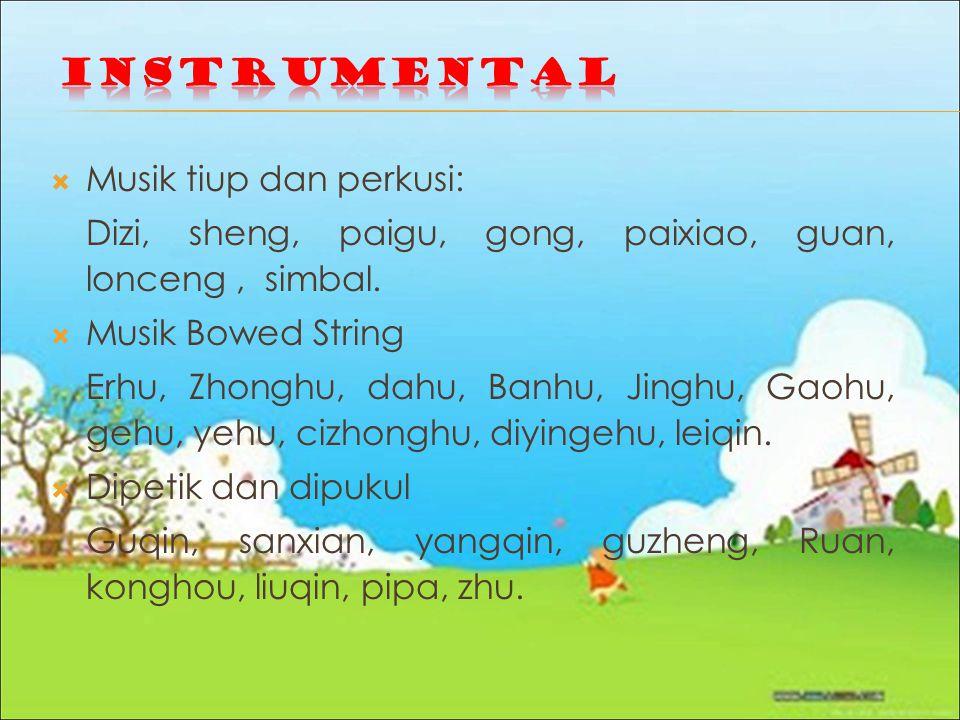 Instrumental Musik tiup dan perkusi:
