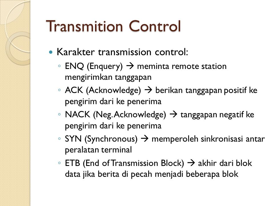 Transmition Control Karakter transmission control: