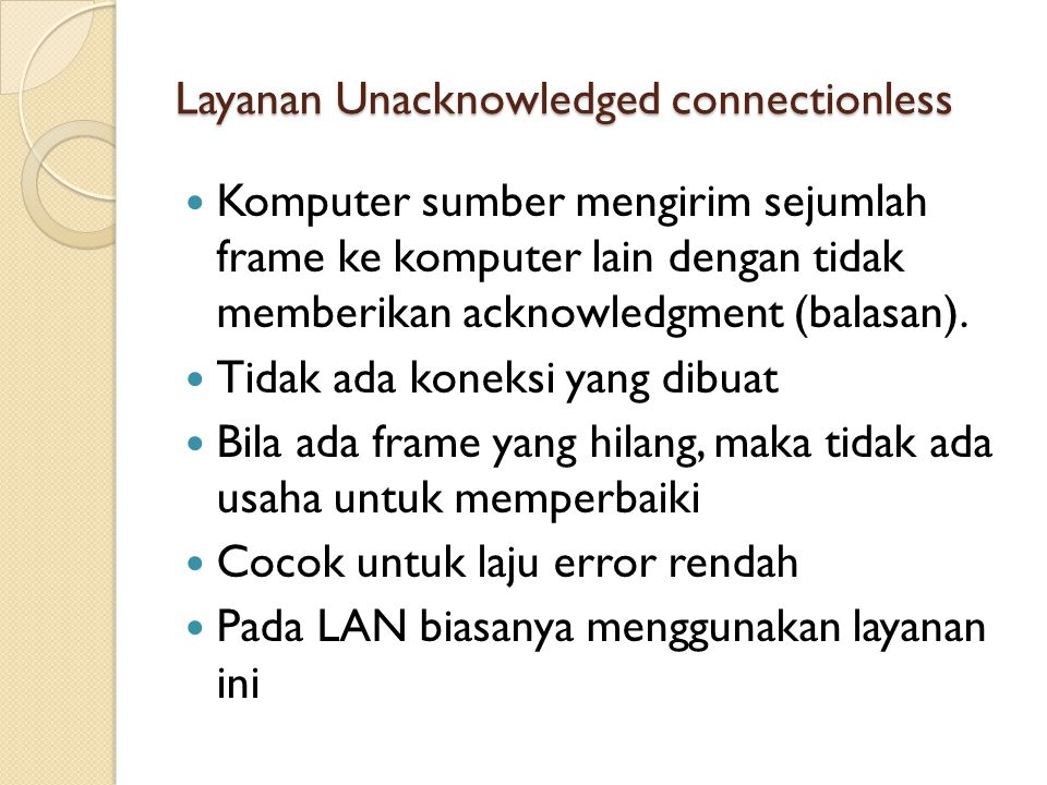 Layanan Unacknowledged connectionless