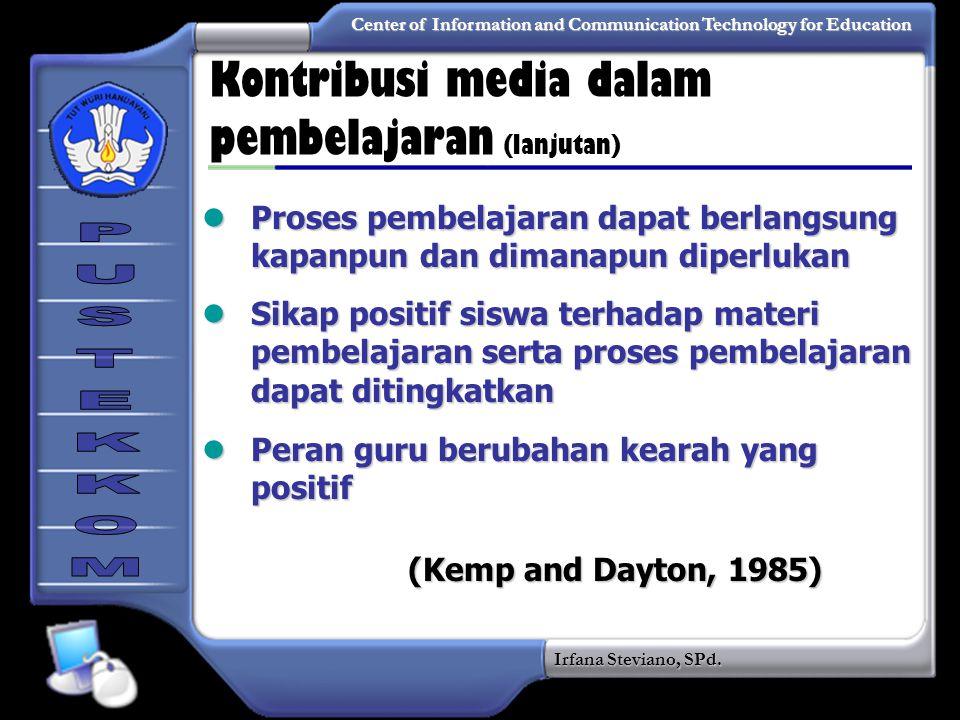 Kontribusi media dalam pembelajaran (lanjutan)
