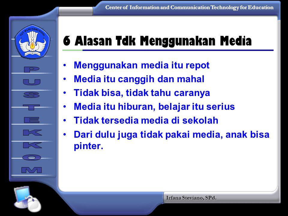 6 Alasan Tdk Menggunakan Media