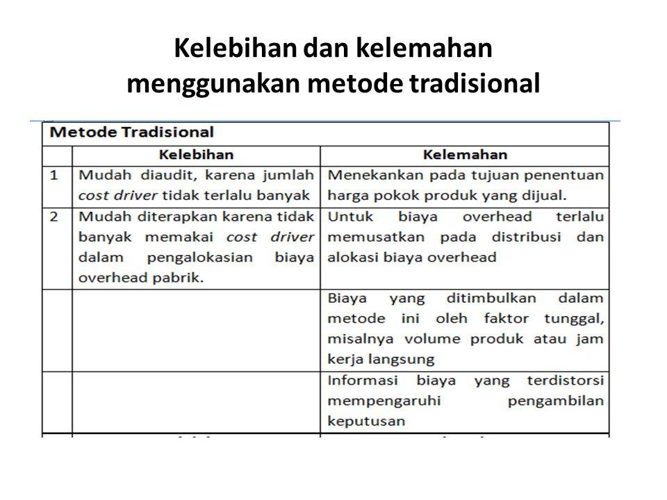 Kelebihan dan kelemahan menggunakan metode tradisional
