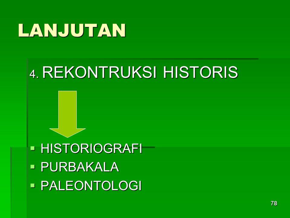 LANJUTAN 4. REKONTRUKSI HISTORIS HISTORIOGRAFI PURBAKALA PALEONTOLOGI