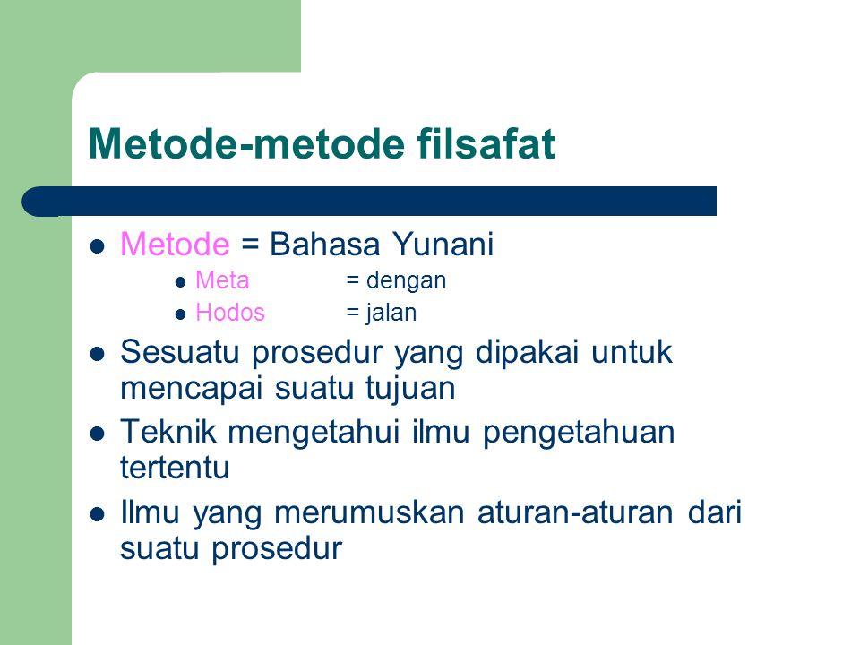 Metode-metode filsafat