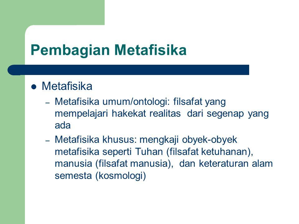 Pembagian Metafisika Metafisika