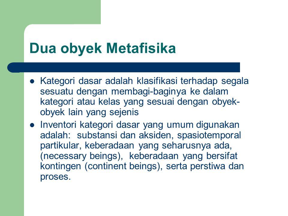 Dua obyek Metafisika