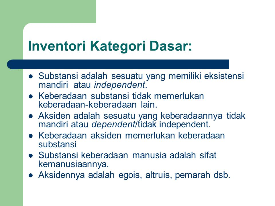 Inventori Kategori Dasar: