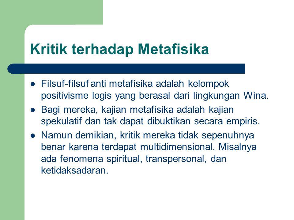 Kritik terhadap Metafisika