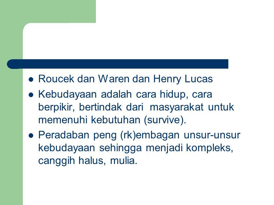 Roucek dan Waren dan Henry Lucas