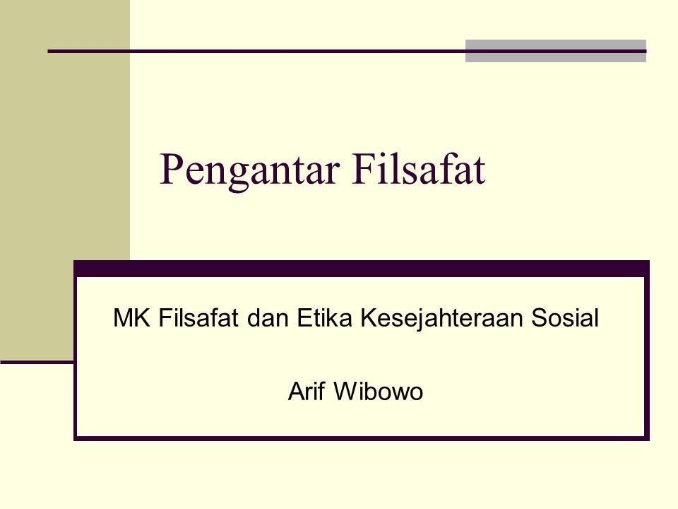 MK Filsafat dan Etika Kesejahteraan Sosial Arif Wibowo