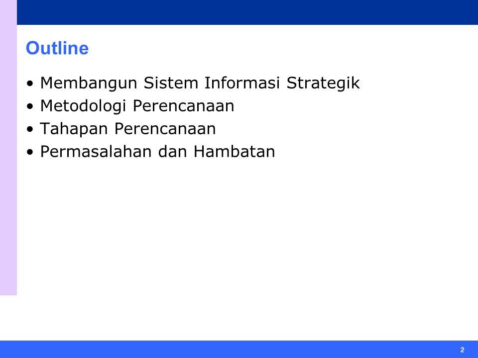 Outline • Membangun Sistem Informasi Strategik