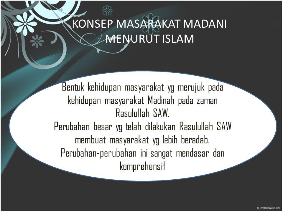 KONSEP MASARAKAT MADANI MENURUT ISLAM