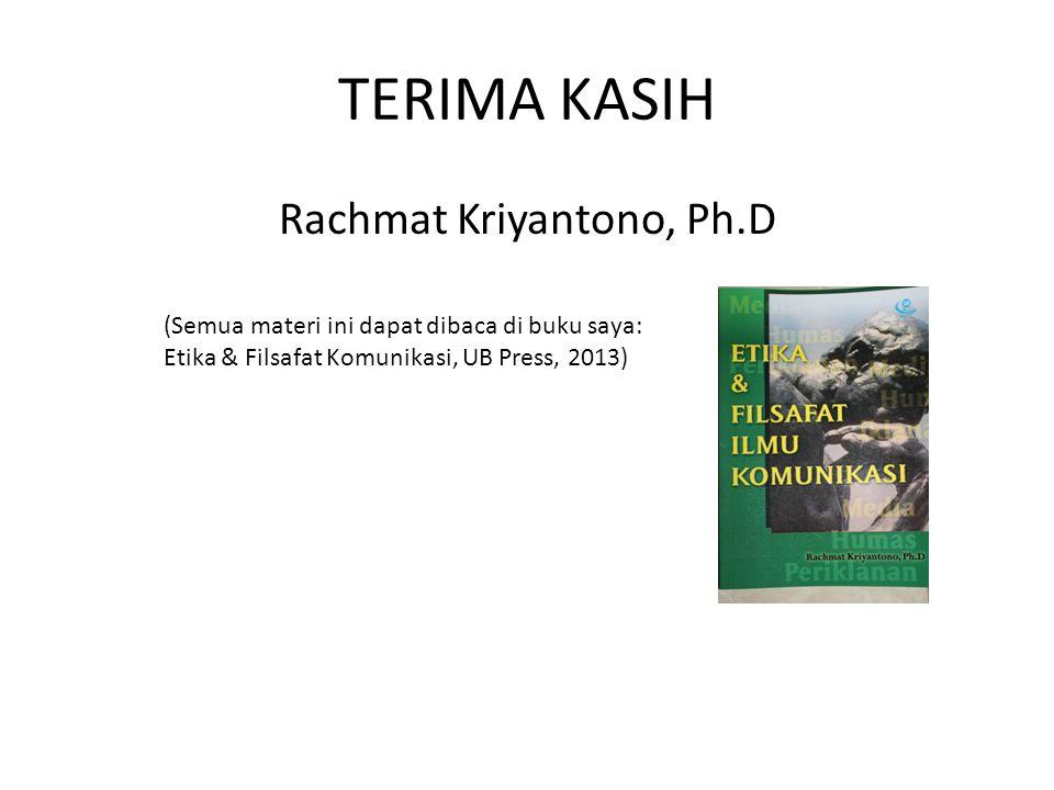 Rachmat Kriyantono, Ph.D