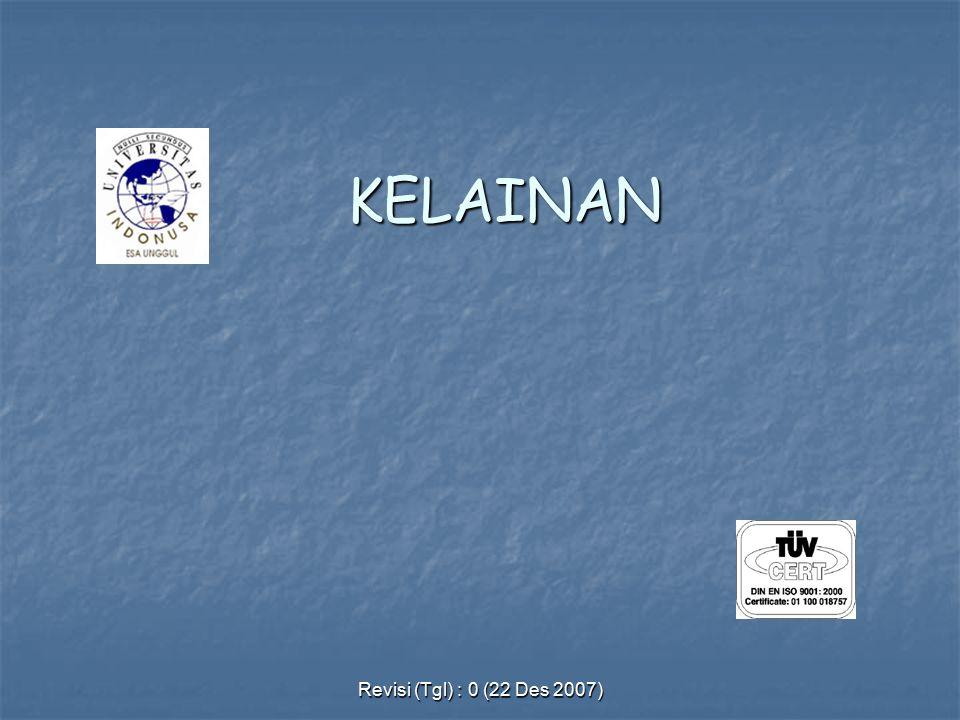 KELAINAN Revisi (Tgl) : 0 (22 Des 2007)