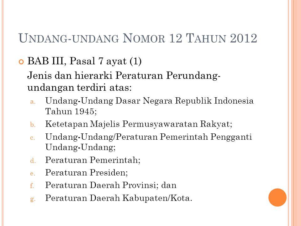 Undang-undang Nomor 12 Tahun 2012