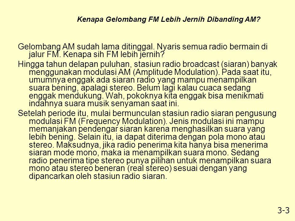Kenapa Gelombang FM Lebih Jernih Dibanding AM