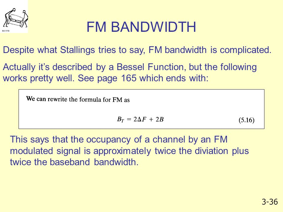 FM BANDWIDTH Despite what Stallings tries to say, FM bandwidth is complicated.