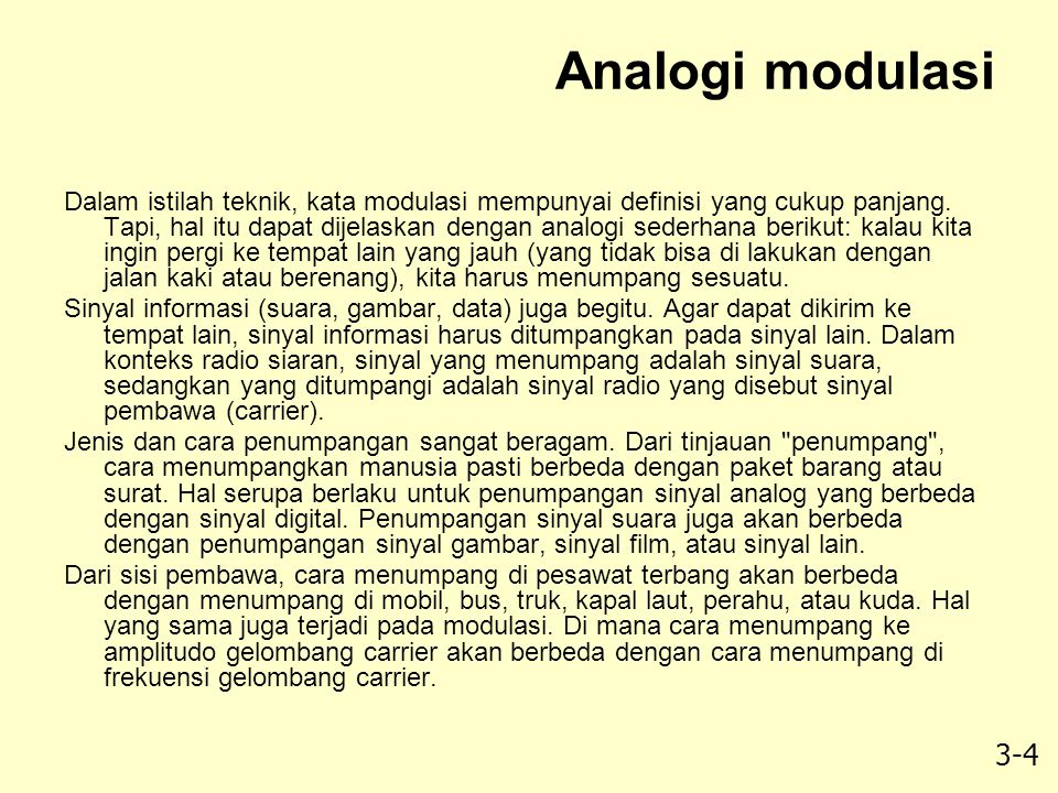Analogi modulasi