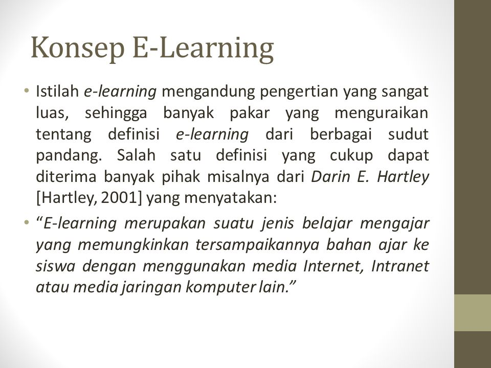 Konsep E-Learning